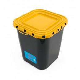 Контейнер для сбора опасных отходов пластиковый с герметичной крышкой