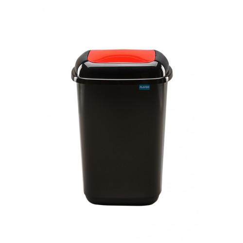 Черный бак с красной плавающей крышкой