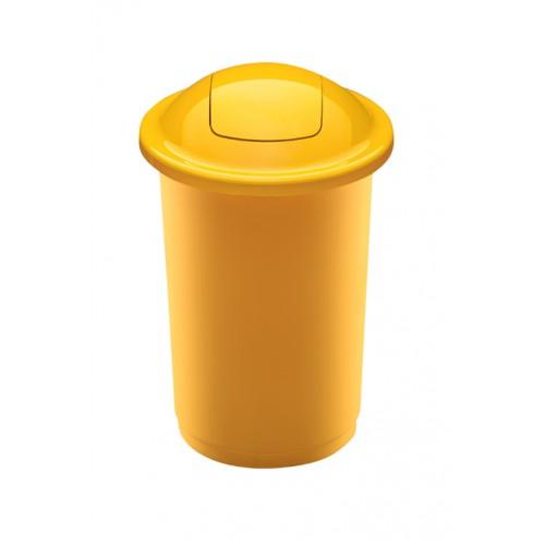 Контейнер желтый с плавающей крышкой