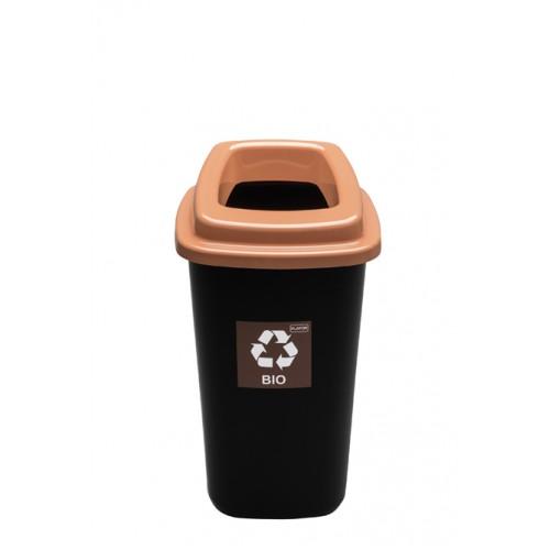 Черный контейнер с коричневой крышкой с отверстием
