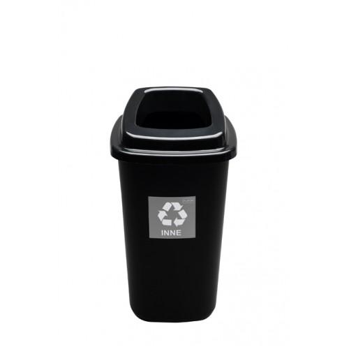 Черный контейнер с крышкой с отверстием