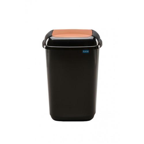 Черный бак с коричневой плавающей крышкой
