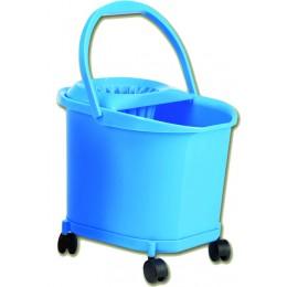 Ведро пластиковое синее на колесах
