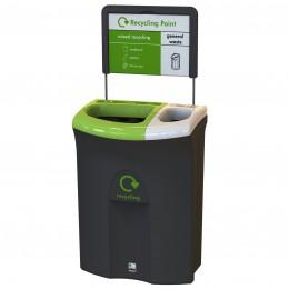 Контейнер для раздельного сбора мусора два раздела