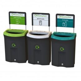 Контейнер для раздельного сбора мусора открытая крышка