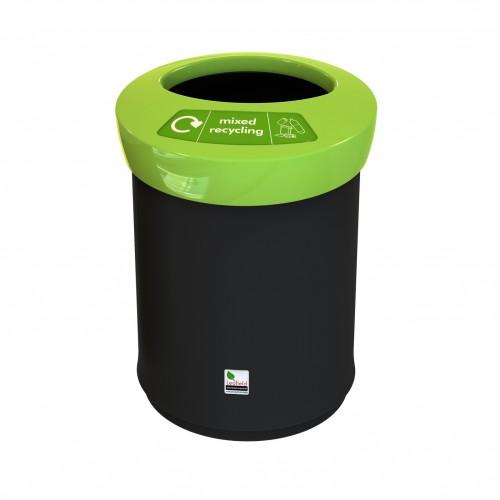 Ведро мусорное пластиковое с открытой крышкой