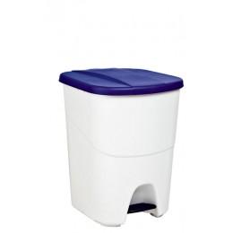 Мусорный бак для раздельного сбора отходов 2 секции с педалью и крышкой