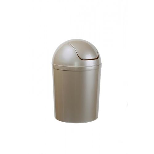Мусорный бак пластиковый, с качающейся крышкой, объем 5 л. 15 л.
