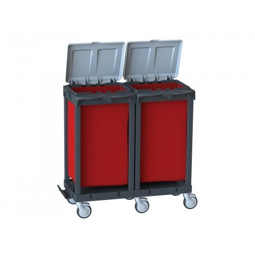 Многофункциональная тележка для сбора отходов и мусора