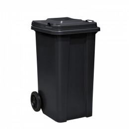 Мусорный контейнер 120 л. пластиковый на колесах с крышкой и ручкой