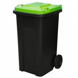 Мусорный контейнер 120 л. пластиковый для раздельного сбора мусора на колесах с крышкой и ручкой