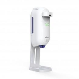 Автоматический дозатор спрей MIRTOO 002TM для антисептика с бесконтактным термометром с поддоном емкость 1100 мл
