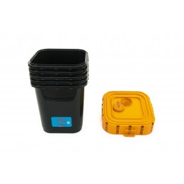 Контейнер для сбора опасных жидких отходов пластиковый с герметичной крышкой