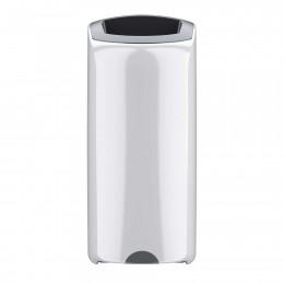 Мусорный бак подвесной Vectair Wastecare™ 40 л белый пластиковый с открытым отверстием и крепежом для стены