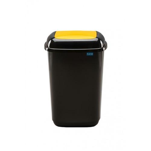 Черный бак с желтой плавающей крышкой