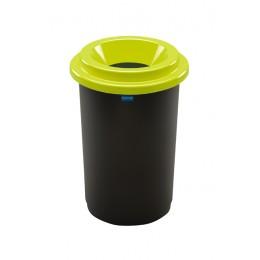 Бак с черной емкостью и зеленой воронкообразной крышкой