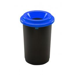 Контейнер с черной емкостью и синей воронкообразной крышкой