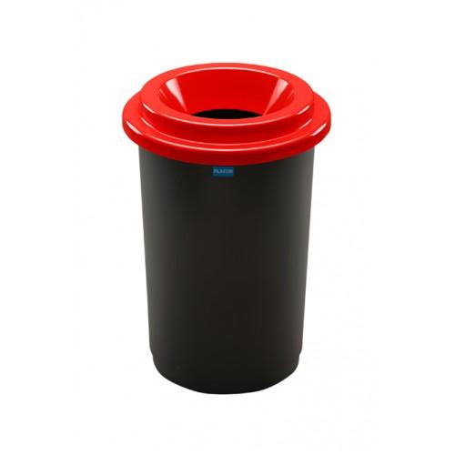 Контейнер для раздельного сбора отходов черная емкость и красная воронкообразная крышка