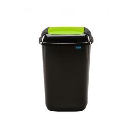Черный бак с зеленой плавающей крышкой