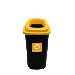 Черный бак с желтой крышкой с отверстием