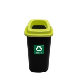 Черный бак с зеленой крышкой с отверстием