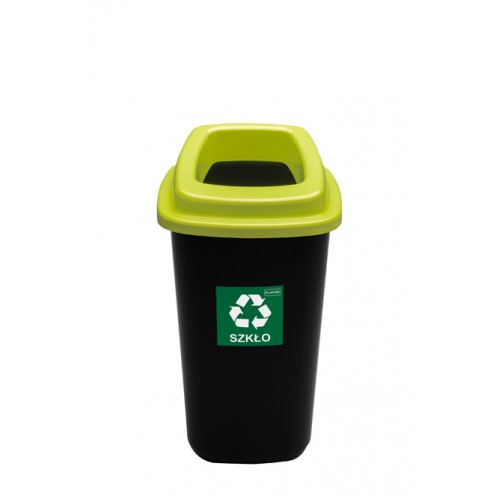 Бак для раздельного сбора мусора зеленая крышка с отверстием