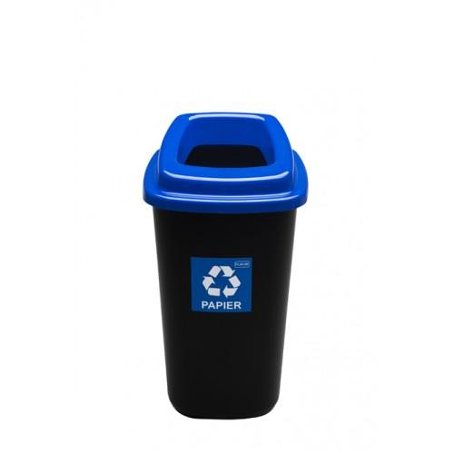 Контейнер для раздельного сбора мусора синяя крышка с отверстием