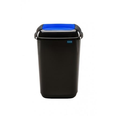 Черный бак с синей плавающей крышкой