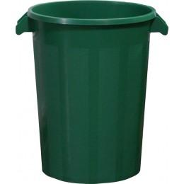 Бак пластиковый зеленый с крышкой с ручками