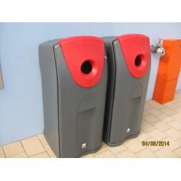 Урна для мусора с боковым отверстием крышка открывается спереди внутри спецустановка для мусорного мешка