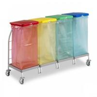 Тележки для сбора и сортировки мусора