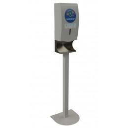 Автоматический дозатор Liscom для бесконтактной дезинфекции рук антисептиком, напольное крепление