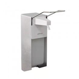 Дозатор локтевой MIRTOO X-2269 для антисептика и жидкого мыла алюминий, сталь и пластик 1000 мл.