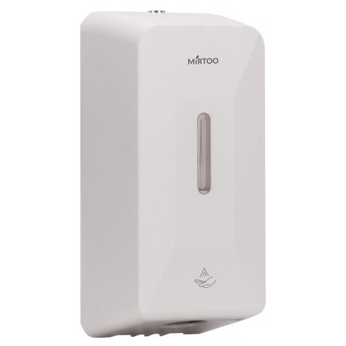Дозатор MIRTOO FG2019 сенсорный для дезинфицирующих средств и мыла из противоударного ABS пластика автоматический антивандальный на 1000 мл.