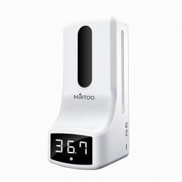 Сенсорный дозатор для антисептика с бесконтактным измерением температуры MIRTOO K9 капельный 1000 мл.