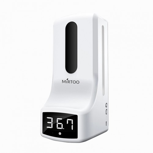 Сенсорный диспенсер для антисептика с бесконтактным измерением температуры MIRTOO K9 капельный 1000 мл.