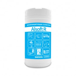 Дезинфицирующие салфетки Saraya Alsoft R 67023 в упаковке по 80 шт