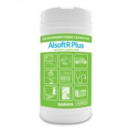 Дезинфицирующие салфетки Saraya Alsoft R Plus 67024 в упаковке по 80 шт