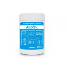 Дезинфицирующие салфетки Saraya Alsoft R 67026 в упаковке по 90 шт