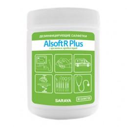 Дезинфицирующие салфетки Saraya Alsoft R Plus 67027 в упаковке по 90 шт