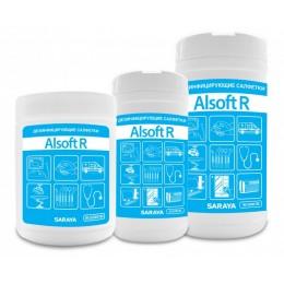 Дезинфицирующие салфетки Saraya Alsoft R 67021 в упаковке по 180 шт