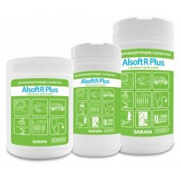 Дезинфицирующие салфетки Saraya Alsoft R Plus 67022 в упаковке по 180 шт