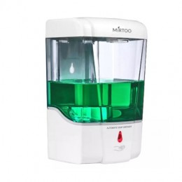 Автоматический дозатор для антисептика и  жидкого мыла MIRTOO LT0890 сенсорный настенный струйный (капельный) емкость на 700 мл. антисептика