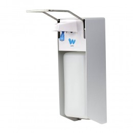 Дозатор локтевой для жидкого мыла и дезинфицирующих средств X-2269, 1000мл., алюминиевый сплав и пластик