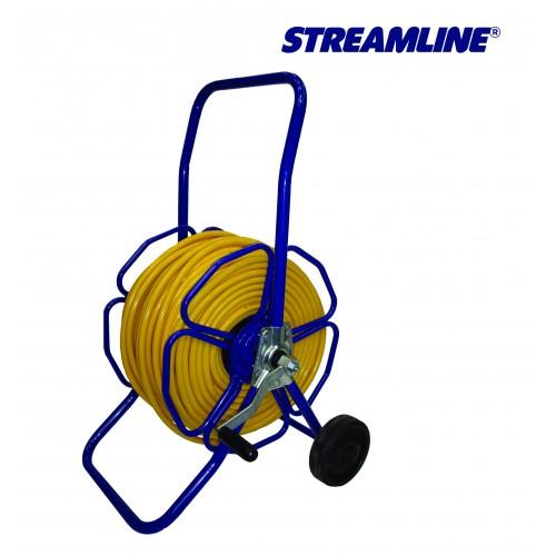 Катушка для шланга металическая с колесами шланг ECOLINE 8 мм. в комплекте. Длина шланга 100 м