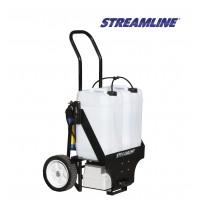 Мобильная система  для мойки фасадов окон и витрин STREAMLINE-Streamflo- SF-TR50-072 баки 50 литров