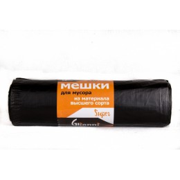Мешки для мусора ПНД Glionni SUPER 220-22/390 10 шт по 220 л