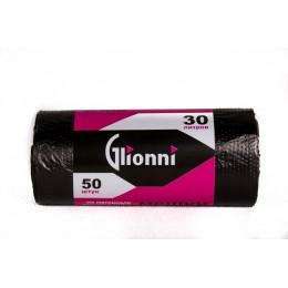 Мешки для мусора ПНД Glionni STANDART 30-7/50 шт 50рул.эт 30 шт по 30 л