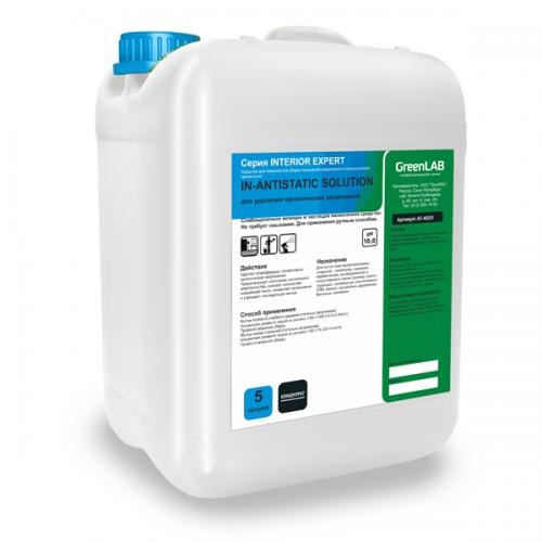 IN - ANTISTATIC SOLUTION, 5  л - для комплексной уборки помещений и снижения их последующего загрязнения