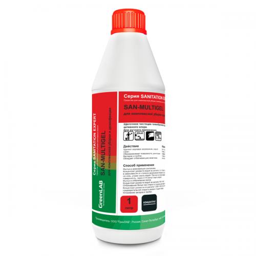 SAN - MULTIGEL, 1 л. для комплексной уборки и дезинфекции